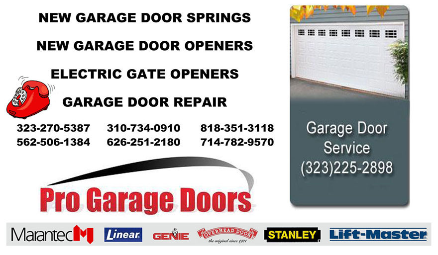 NEW GARAGE DOOR SPRINGS West Covina